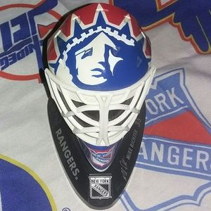 1998 New York Rangers Mike Richter Goalie Mask NHL